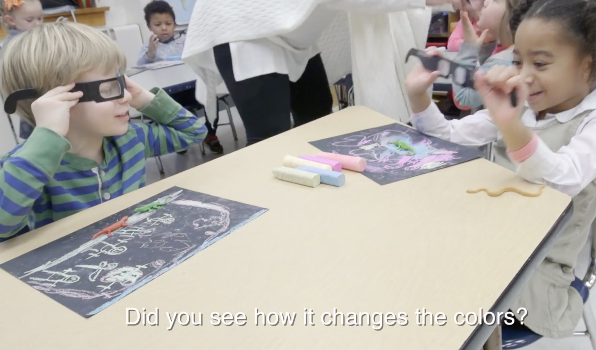 Preschoolers Create 3D Drawings